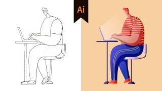 Character Illustration #03 - Design Workflow In Illustrator (Tutorial)