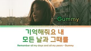 Gummy - Remember Me / 기억해줘요 내 모든 날과 그때를 (Hotel Del Luna OST 7) Lyrics Color Coded (Han/Rom/Eng)