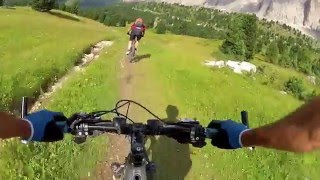 Spectacular crash in Dolomites, Italy on the Sella Ronda Tour.