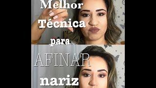 Melhor técnica para AFINAR O NARIZ - How make your nose smaller
