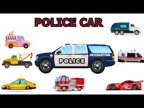 Police Car Learning videos about Cars for kids 2019