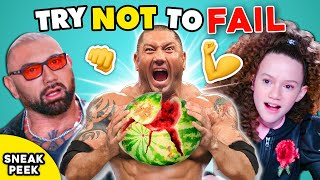 SNEAK PEEK - Try Not To Get DESTROYED By DAVE BAUTISTA Challenge (Ft. Chloe Coleman)