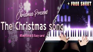 캐롤 'The Christmas song' c코드 쉬운 재즈 피아노 버전! (무료 악보)