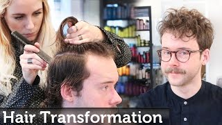 Mens Hair Transformation | Textured Top Hipster Style | By Slikhaar TV