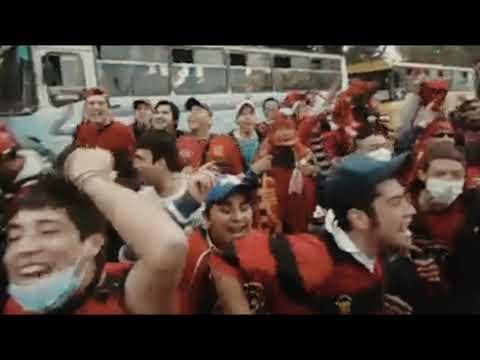 """""""Los Rojinegros llegando a la Granja 2011 🔴⚫"""" Barra: Los Rojinegros • Club: Rangers de Talca • País: Chile"""