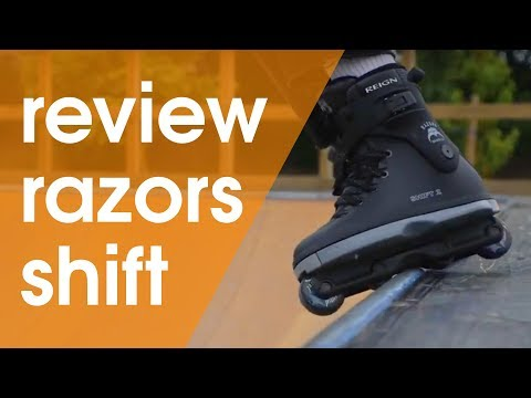 RAZORS SHIFT 2 INLINE SKATES REVIEW // WITH SMALL AND BIG WHEELS