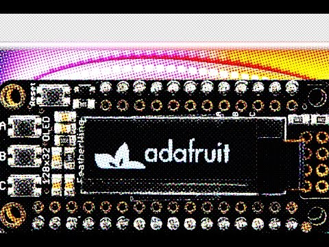 Adafruit FeatherWing OLED - 128x32 OLED Add-on For Feather