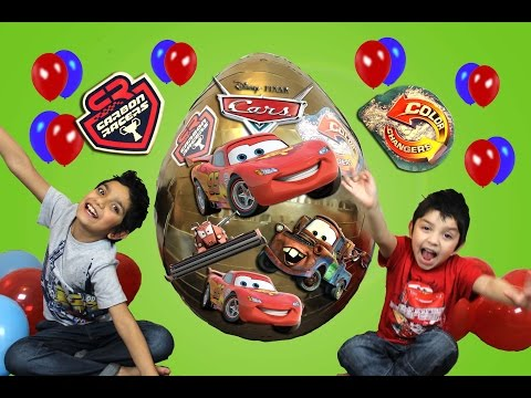 Disney Cars Biggest Ever Giant Golden Surprise Egg Opening  Video By Hitzh Toys