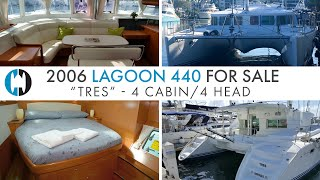 "Lagoon 440 Catamaran For Sale ""Tres"" | Boat Walkthrough Tour"