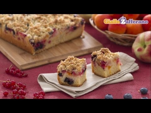 Video Summer fruit crumb cake - recipe