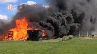 Grote brand aan Achterweg De Kwakel