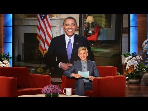 Фото Pres. Barack Obama on Ellen Breaking His Twitter Record