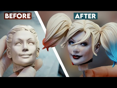 Painting the Harley Quinn Premium Format Figure | Sideshow Behind the Scenes [13:02]