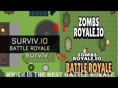 Surviv io VS  Zombsroyale io - Which Is The Best 2D Battle