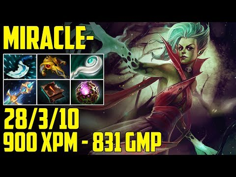 Miracle- DEATH PROPHET [Mid] | Halloween party 900 XPM with Kaya used | Dota 2 Gameplay 2017