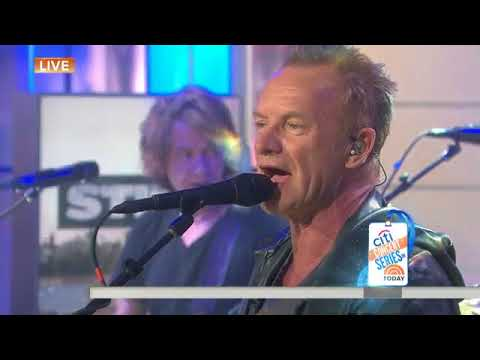 Watch Sting perform 'I Can't Stop Thinking About You' live