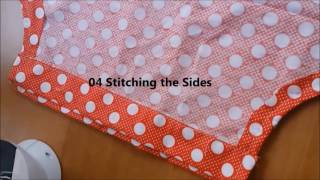 How To Make An Easy Kid Dress With Mini Sewing Machine