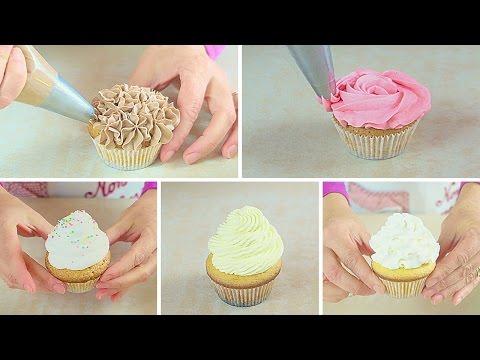Come fare la Glassa Frosting per decorare i Cupcakes con 5 ricette facili e veloci