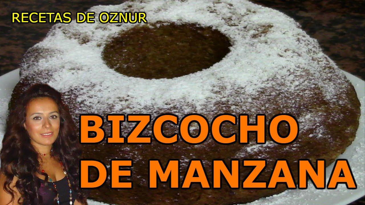 BIZCOCHO CON MANZANA Y CANELA | recetas de cocina faciles rapidas y economicas de hacer - comidas