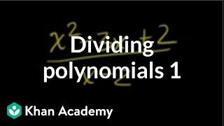 Dividing polynomials 1