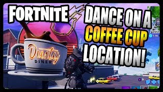 """""""Dance on top of an oversized cup of coffee"""" LOCATION Guide! (Fortnite Season 7)"""