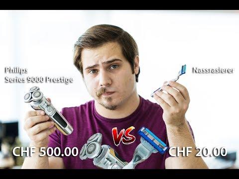 RASIERER TEST - Männerrasierer ● ELEKTRORASIERER TEST | Philips S9000 Prestige vs. Nassrasierer