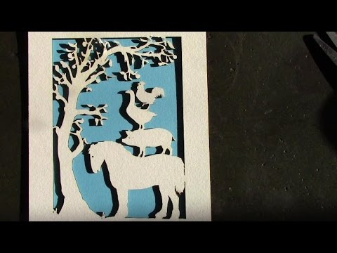 Using A 40 Watt Laser Cutter To Cut Card With CorelPAINT And CorelDRAW