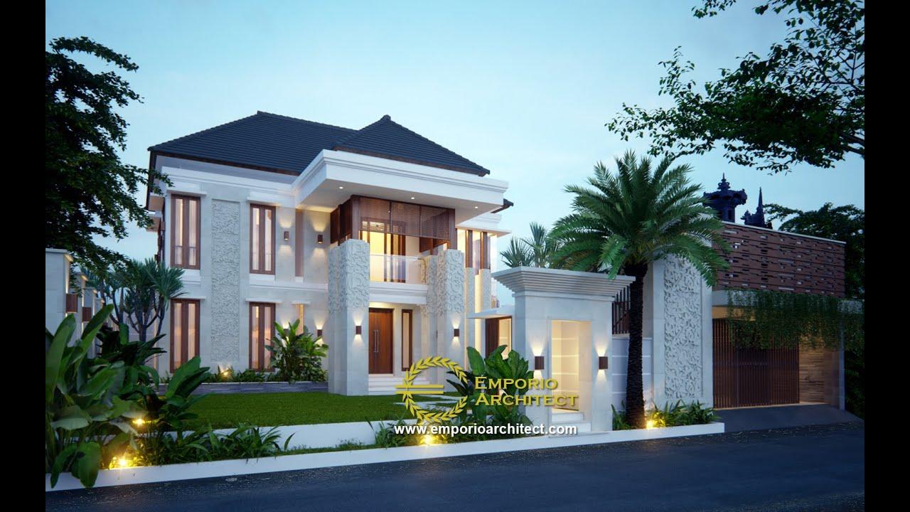 Video 3D Mrs. Ani Villa Bali House 2 Floors Design - Negara, Jembrana, Bali