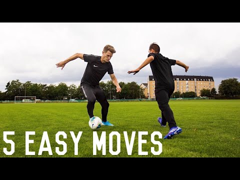5 Simple and Effective Match Skills To Beat Defenders | Dribbling Tutorial For Footballers
