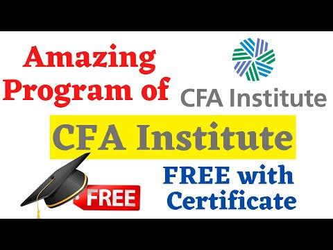 Free Program of CFA Institute (CFA Investment Foundation Program) || Short-Term Course