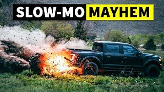 Raptor Fire Drifting & Other Slo-Mo Shreds W/ Ken Block