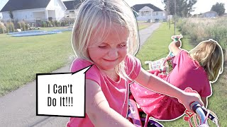 Bike Riding DISASTER! She Finally DID IT THIS TIME
