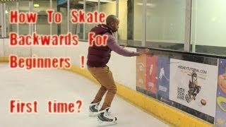 How To Skate Backwards For Beginners - First Time Backward In Ice Skating & Hockey