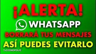 Whatsapp borrara tus mensajes el 12 de noviembre, así puedes evitarlo
