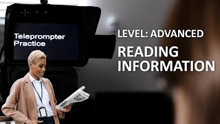 Download Video Telepompter / Autocue reading practice - advanced. MP3 3GP MP4