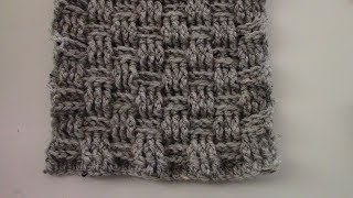 Crochet Basket Weave Scarf