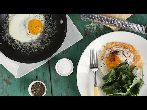 Parmesan Fried Eggs- Everyday Food with Sarah Carey