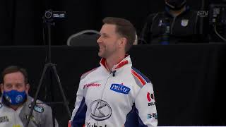 Brad Gushue throws heater to score two | 2021 Humpty's Champions Cup image