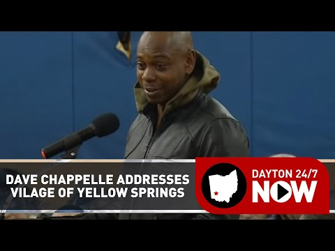 Comedian Dave Chappelle addresses Village of Yellow Springs council meeting