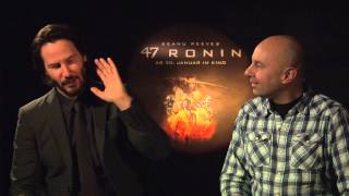 Interview KEANU REEVES - 47 Ronin - MATRIX - spricht deutsch / german