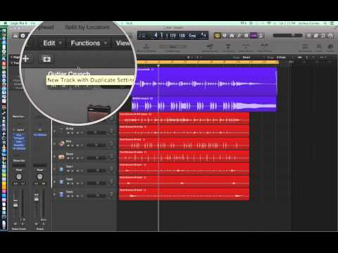 Logic Pro X – Video Tutorial 06 – Cycle Record (Loop Record), Duplicate Tracks