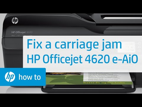 Fixing a Carriage Jam | HP Officejet 4620 e-All-in-One Printer | HP