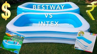 Swimming Pool Setup- INTEX Vs Bestway Review in India for Kids & Adults 2020