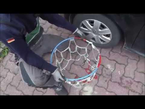 Schneeketten am Autoreifen anbringen - Anleitung - Winterfestes Auto
