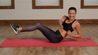 Day 3 Video 2: 5-Minute No-Crunch Flat Abs Workout | Class FitSugar by POPSUGAR Fitness