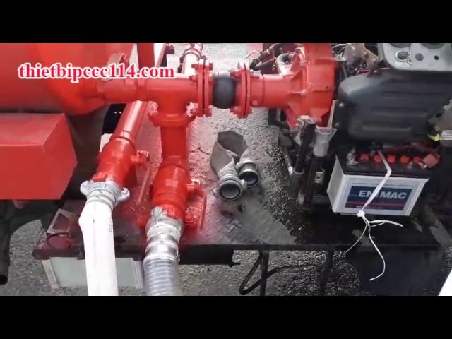 Lắp đặt máy bơm chữa cháy cứu hỏa tại PCCC Thành Đạt