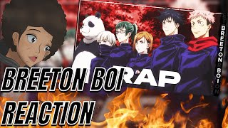 """AfroLegacy Reacts To JUJUTSU KAISEN TOKYO STUDENTS CYPHER   """"Sorcery Fight!""""   Breeton Boi & More"""