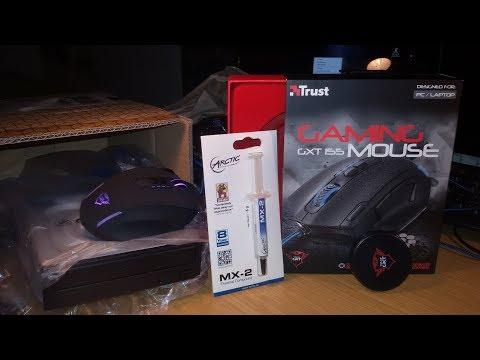 TRUST GXT 155 Gaming Maus 11 Tasten mit Gewichte UNBOXING + CD ROM Laufwerk und Verlosung
