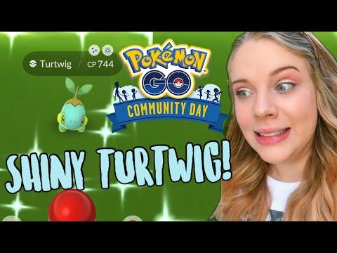 HOW MANY SHINIES? Turtwig Community Day Pokémon Go Vlog!