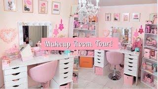 My Girly Makeup Room Tour 2020!